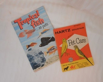 Vintage Hartz Mountain pet care booklet and Herbert Axelrod Tropical Fish care and breeding two how-to pet and fish care books