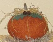 Primitive Pumpkin Tuck - Fabric - Fall Centerpiece - Table Decor - Shelf Sitter