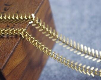 Promotion season-3.3 feet fantastic gold plating over fish bone chain -solid brass chain-F1080