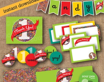 "INSTANT DOWNLOAD: DIY Printables - Party Pack - ""Sprinkles"""