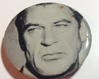 Vintage Gary Cooper Celluloid Pinback Button 1960s