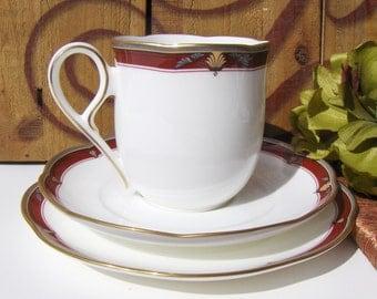 Vintage Tea Cup Set Noritake Queens Splendor 9746 Teacup / Saucer / Bread Plate