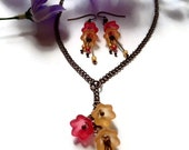 Autumn Tulip Necklace and Earring Set
