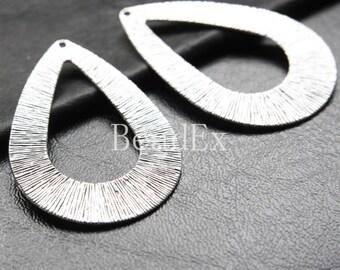 4pcs / Teardrop / Oxidized Silver Tone / Base Metal / Pendant (YA16499//E188)