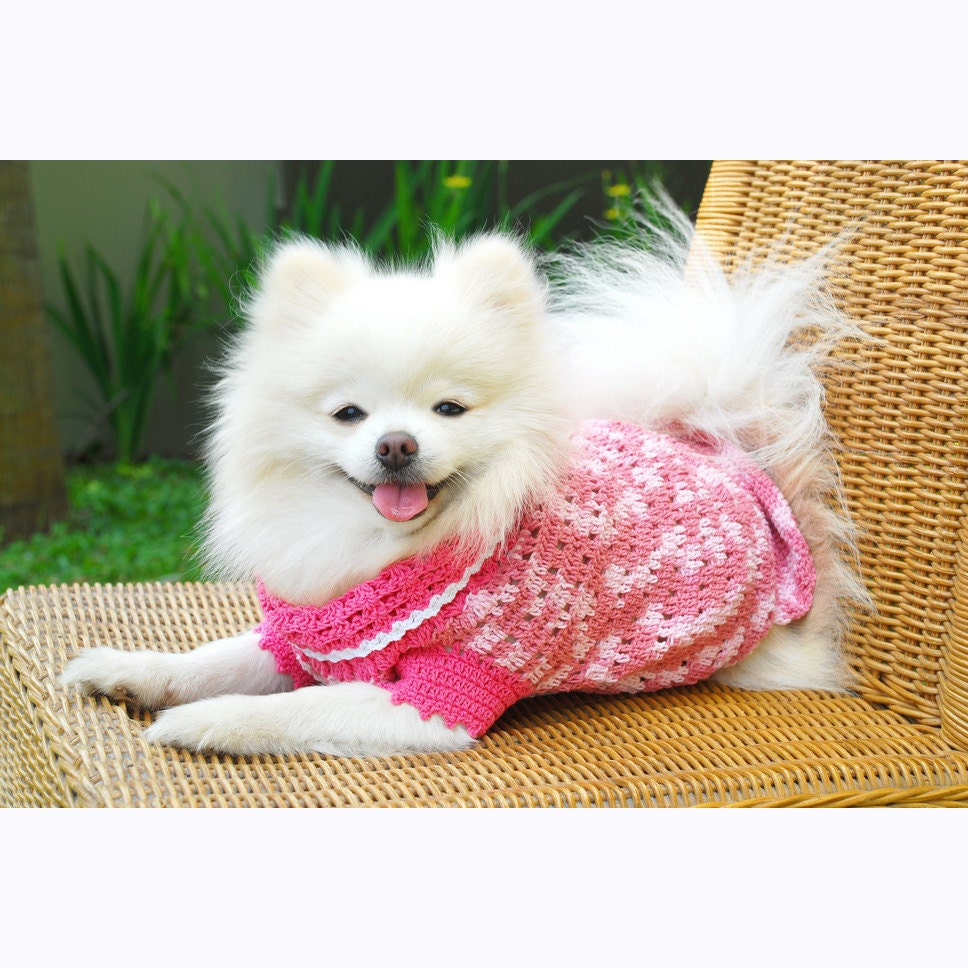 Pink Dog Dress Cute Pet Clothing XXS Teacup Dog Clothes - photo#35