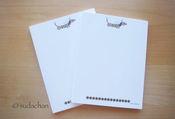 Personalized Notepads - Dachshund In Bumble Bee Costume (set of 2)