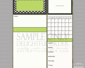 Digital Dry Erase Calendar - 16x20 Green Chevron Child Message Center Too (JPEG Digital File) - Instant Download - You Print - You Frame
