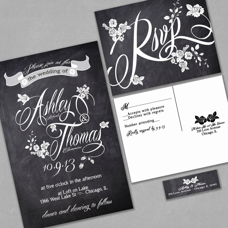 chalkboard wedding invitations boho etsy wedding invitations zoom