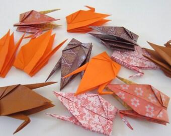 SALE 12 Autumn Inspired Large Origami Cranes