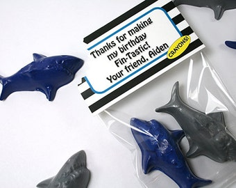 Hungry Shark crayon set of 2 by Scribblers Crayons