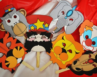 Print Your Own Circus Masks Ringmaster Lion Tiger Elephant Horse Monkey Clown