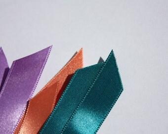 9 Pieces of Elegante Satin Ribbon Tape - Reversible - Cutted - bra straps - bra making