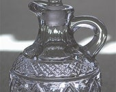 """Imperial Glass """"CAPE COD"""" crystal cruet with stopper ca 1932-84"""