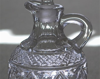 "Imperial Glass ""CAPE COD"" crystal cruet with stopper ca 1932-84"