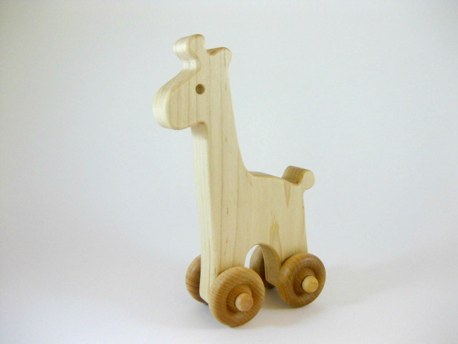 Wood Toy Giraffe Push Toy natural wooden toy