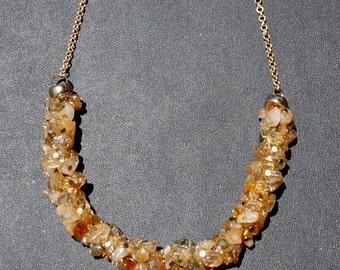 Citrine Irregular Beads Necklace