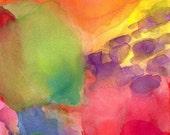 Abstract Art Print, Large, Quiet Joy