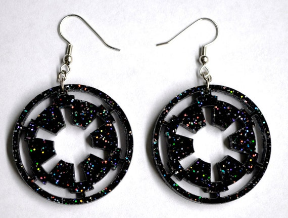 Star Wars Imperial Logo inspired Earrings
