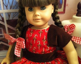 Custom Couture 18 Inch Doll Clothing-Little Miss Christmas Dress and Bolero Jacket Custom for Your Favorite 18 Inch Doll