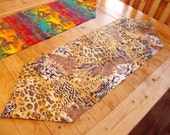 Safari, Giraffe, Tiger, Lion, Cheetah, Zebra. Table topper, Table Runner, Dresser Scarf, Wild Animal. Designer Scarf