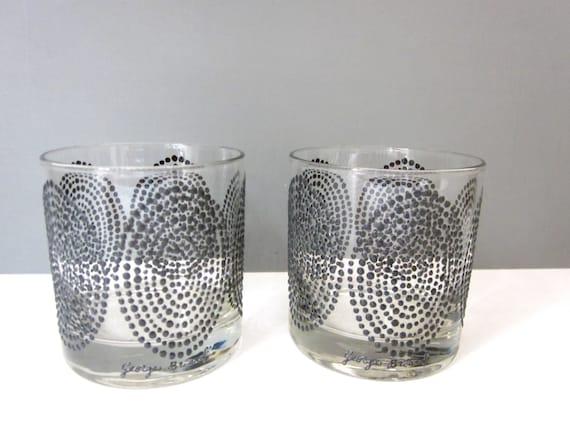 Vintage George Briard cocktail glasses, set of two