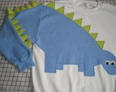 Dinosaur sweatshirt with a spikey tail, dinosaur sweater, dinosaur shirt, adult dinosaur jumper, Adult sizes, CUSTOM to your COLORS and size