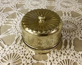 Silver plate loose powder box