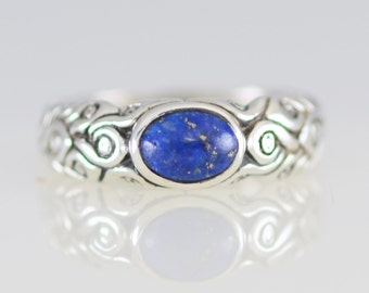 Lapis Lazuli Magical Ring in Sterling Silver