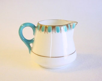 Lovely Vintage Bone China Mini Creamer in Art Deco Pattern- ADDERLEYS England