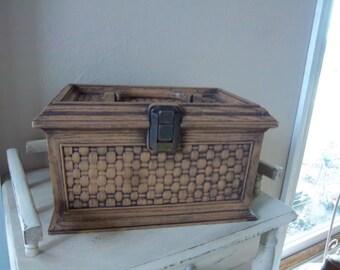 Vintage Lerner Plastic Sewing Tote with Handle