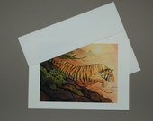 Tiger Rides The Wind Down The Mountain Card 5 x 7