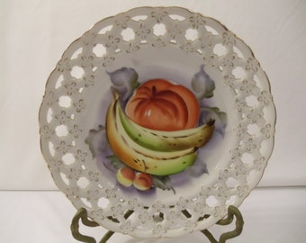 Lefton Collectible Porcelain China Hand Painted Wall Plate