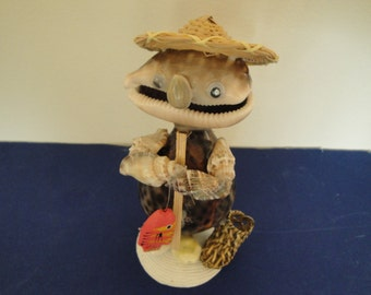 Sea Shell Seashell Fisherman Figurine