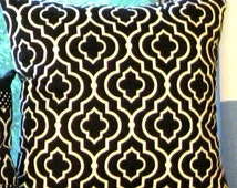 Black ivory waverly pillow cover 24 X 24