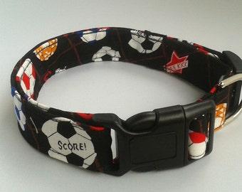 Soccer Dog Collar Size XS, S, M, L