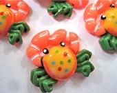 Colorful Crabs Cabochons Embellishment Buttons