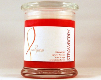 9 oz  Strawberry Soy Jar Candle
