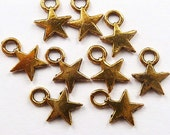 Gold Plated Star Charms