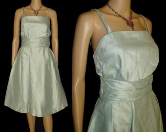 Vintage 1950s Dress . Couture Designer Full Skirt Femme Fatale Cocktail Party Garden Party Mad Men Prom Pinup Rockabilly Ballerina Prom
