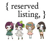 reserved listing for mush561