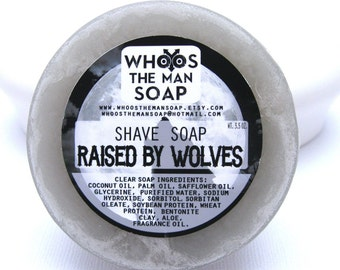 Raised By Wolves Shave Soap Handmade