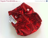 Sale READY 2 SHIP - Red with Black Stars - Diaper Cover - Newborn - 4lbs to 12lbs