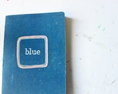 When you say blue, handmade, vintage book cover notebook