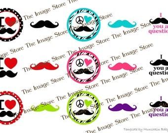 Mustache Bottlecap image sheet