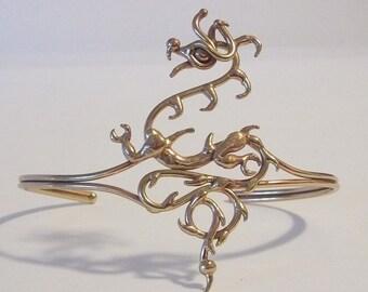 Bronze Dragon Upper Armband