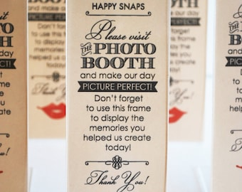 vintage photo booth acrylic frames party favor lips and mustache