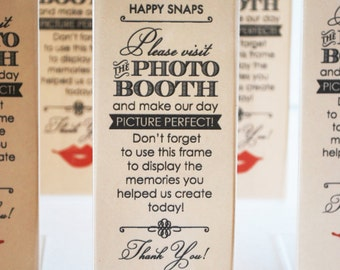 Vintage Photo Booth Acrylic Frames Party Favor Lips And