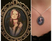Buffy The Vampire Slayer Pendant Necklace -  Buffy Cameo Pendant
