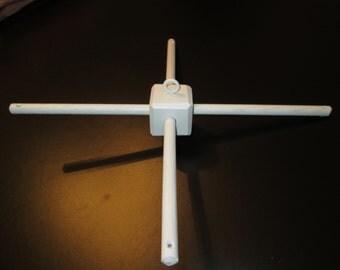 Oak Hanger for Crib Mobile -  Custom Colors - Cross Bars - 12 inches long - Baby Mobile Hanger