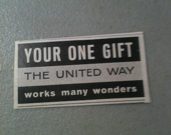 Vintage United Way Ad